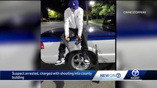 Terrifying video shows man hanging out of car with gun, driver now busted