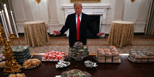 Trump aides told him over a McDonald's meal to stop bitching about losing in Iowa to Ted Cruz in 2016