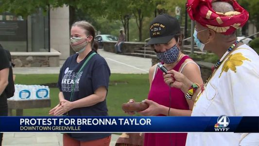 Protest held in Downtown Greenville after Breonna Taylor decision