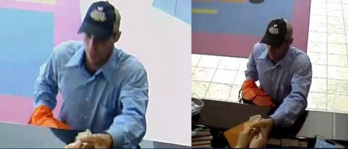 Police try to identify bank robber