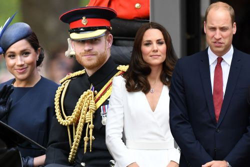 Prince Harry and Meghan Markle exiting Prince William and Kate Middleton's foundation this week