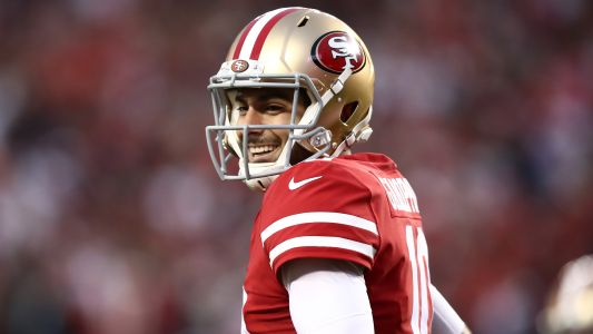 Jimmy Garoppolo reacts to 49ers moving up to draft Trey Lance, possible trade to New England