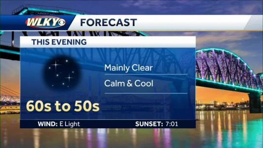 Calm and cool, mainly clear
