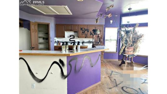 'Little slice of hell': Home with profane graffiti covering carpets, walls listed for $590,000