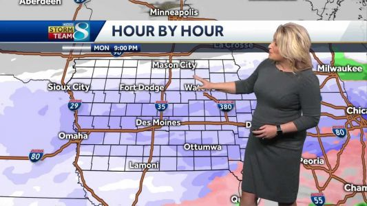 Winter Storm: Heaviest snow to fall Monday afternoon