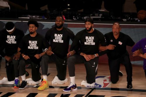 Video Shows NBA Fan Burn LeBron's Jersey After Players Kneel For National Anthem