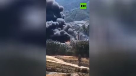 Several injured & missing after explosion, massive fire at biofuel plant in China