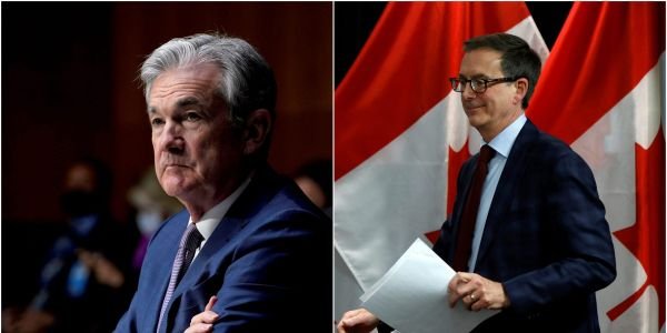 Canada's central bank is taking surprising steps to cool the nation's red-hot virus recovery - and the approach directly conflicts with the Fed's ultra-easy stance, even with the US further along