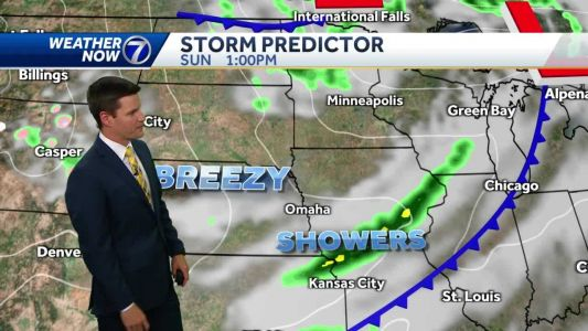 Cooler Sunday with morning showers possible