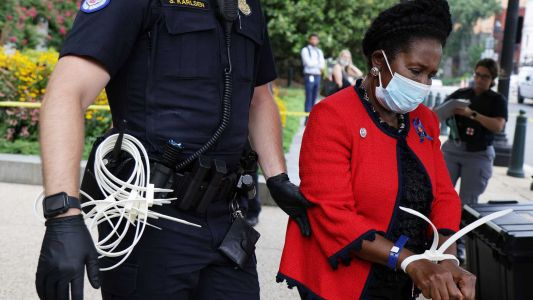 Third Black lawmaker arrested this month during voting rights protests in DC