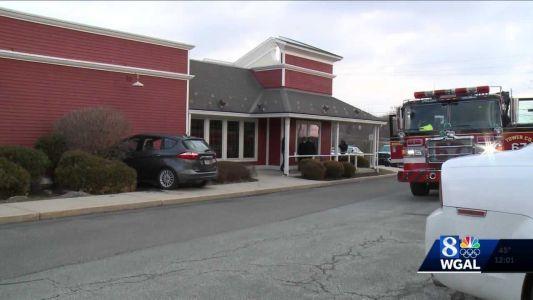 Car hits restaurant in Lancaster County