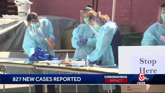 827 new COVID-19 infections in Mass. reported