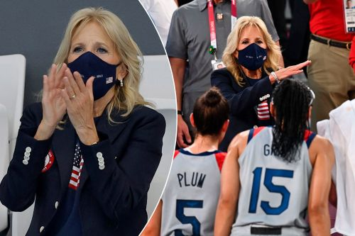 Jill Biden 'all decked out' in Team USA gear as she cheers on athletes at Tokyo Olympics