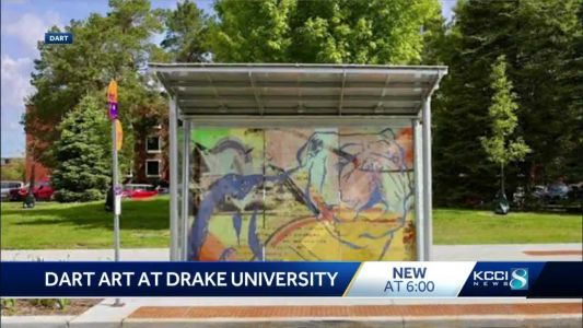 DART unveils new artwork on bus shelter
