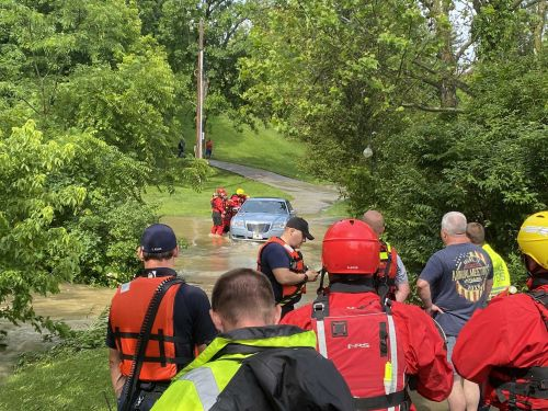Driver rescued from high water in Union