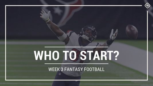 Who to start in fantasy football: Week 3 rankings, start sit advice for PPR, Standard, Superflex scoring