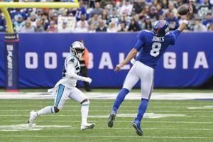 Jones not worried about offensive mates for Giants