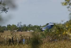 Plane burns after takeoff mishap in Texas; no one badly hurt