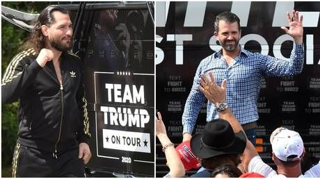 'It's a no-brainer, communism isn't for America': UFC star Masvidal teams up with Trump Jr for 'Fighters Against Socialism' rally