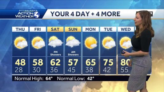 Cold and breezy Thursday