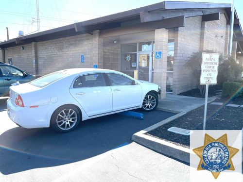 Woman arrested on suspicion of DUI after driving herself to CHP office