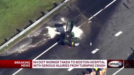 DOT tractor split in half in Nashua crash