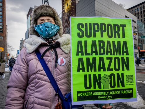 The Amazon unionizing battle follows a familiar pattern as union accuses the company of 'illegal and egregious' actions