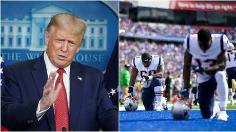 'If they don't stand for the national anthem, I hope they don't open': Donald Trump issues fresh NFL anti-kneeling barb