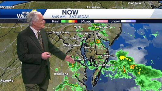 Scattered showers Saturday