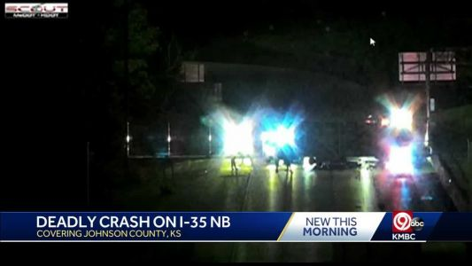 Authorities investigating deadly early morning crash on I-35 in Shawnee