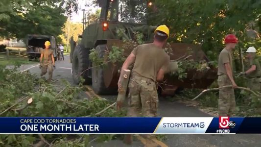 One month later, Cape Cod communities still recovering from tornadoes