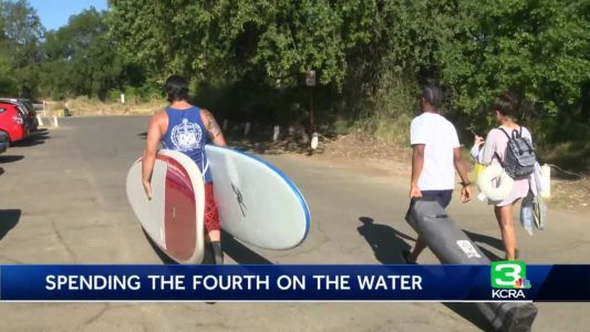 Risk of gathering not keeping travelers away from water on holiday weekend
