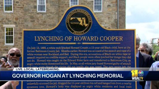 Governor pardons victims of racial lynching in Maryland
