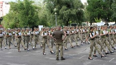 Ukraine developing new shoes for female military personnel after scandal over images of soldiers practicing marches in high heels