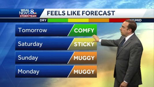 Pleasant, Comfy Friday; Starts To Turn Sticky Again Saturday