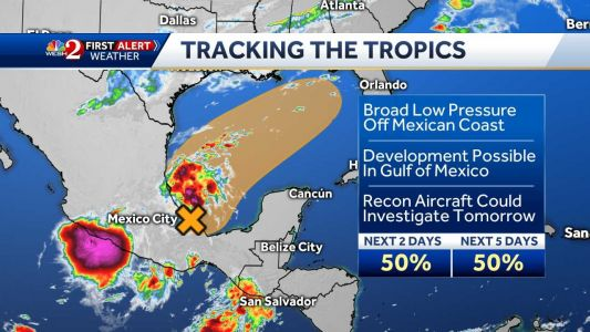 Area of low pressure could develop in the Gulf of Mexico, NHC says