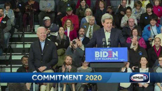 John Kerry joins Joe Biden on campaign trail in New Hampshire