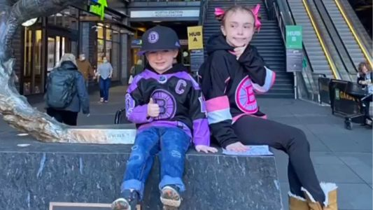 'Mighty Quinn' attends Bruins game to celebrate final cancer treatment