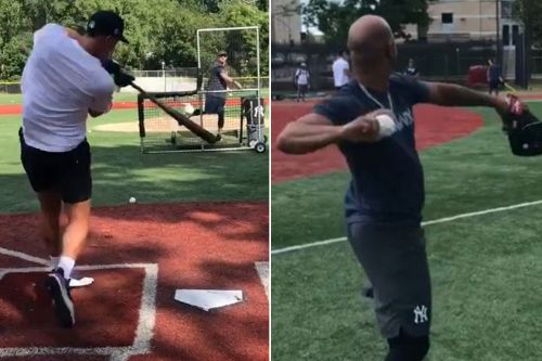 Aaron Judge, Yankees work out at Don Bosco Prep in New Jersey