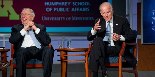 Biden says Walter Mondale paved a way for others and was a model for his service