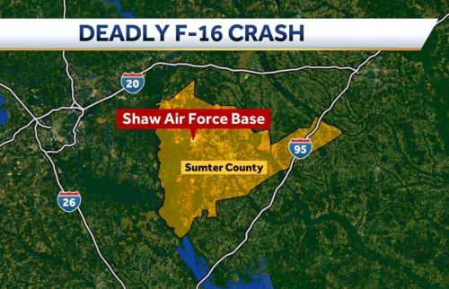 Pilot killed in F-16 crash at South Carolina Air Force Base has been identified