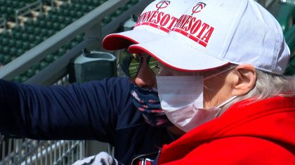 90-Year-Old Twins Fan Shirley Cagle Attends Her First Twins Game