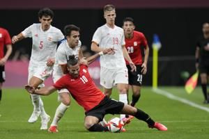 Spain held to 0-0 by Egypt with 6 players from Euro 2020