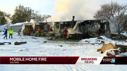 1 injured as flames engulf Marshall County mobile home