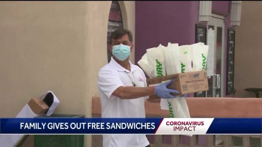 ABQ family gives out free sandwiches to first responders fighting coronavirus