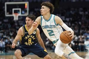 Ball scores 31 to rally Hornets past Pacers 123-122