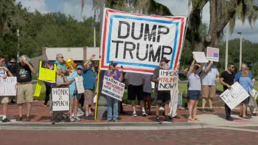 Dueling protests over impeachment outside Stephanie Murphy's Sanford office