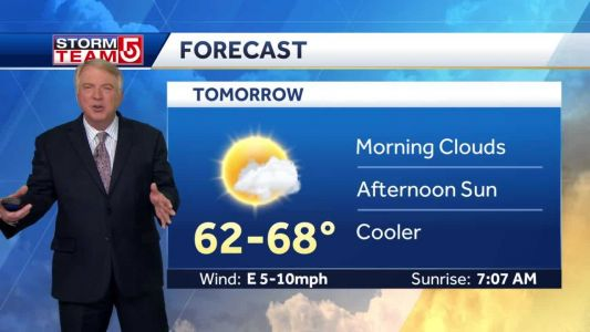 Video: Cooler Friday; Brief warm-up on Saturday