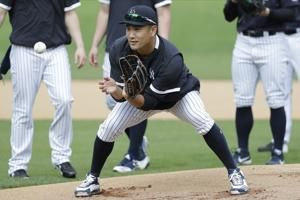 Yankees pitcher Tanaka hit in head by Stanton line drive