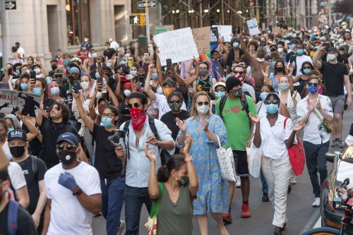 Protests over George Floyd's death erupt across NYC